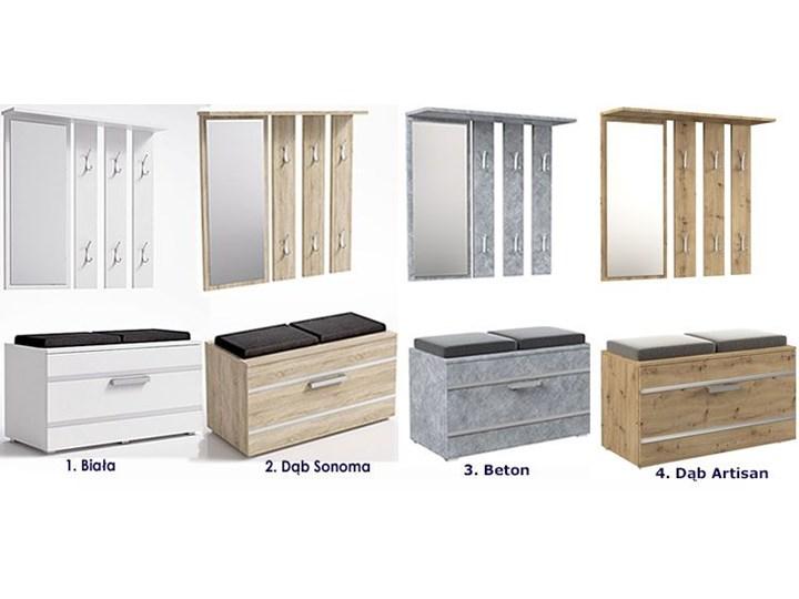 Garderoba z szafką na buty i lustrem Malea - dąb artisan Kategoria Zestawy mebli do sypialni