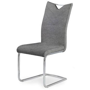 Krzesło tapicerowane Eldor 2X - popielate