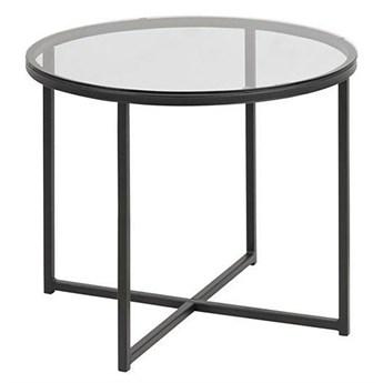 Szklany stolik kawowy Nivivi 4X - czarny