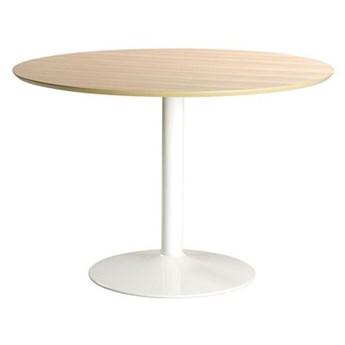 Okrągły stół Toledo - biały + naturalny