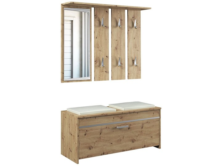 Garderoba z lustrem i szafką na buty Avila - dąb artisan Kategoria Zestawy mebli do sypialni