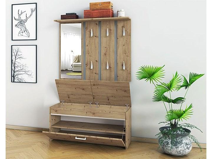 Garderoba z lustrem i szafką na buty Avila - dąb artisan Kolor Beżowy