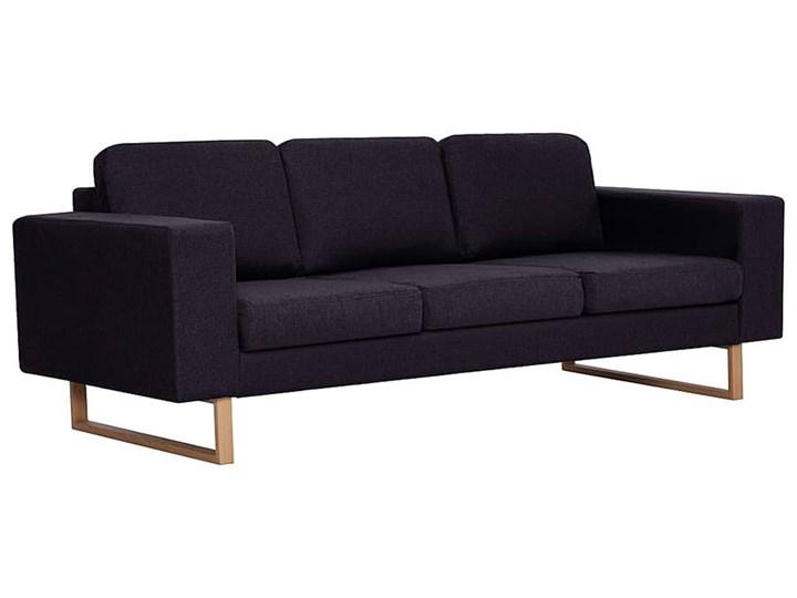 Elegancka trzyosobowa sofa Williams 3X - czarna