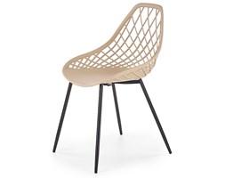druciane krzesło styl minimalistyczny inder - beżowe