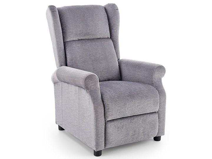 Rozkładany fotel uszak wypoczynkowy Alden - popielaty