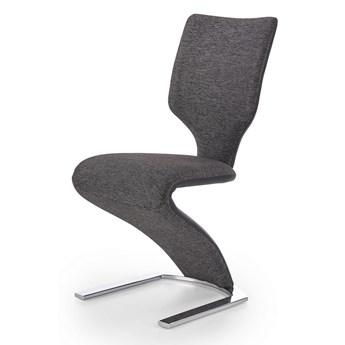 Nowoczesne krzesło do salonu Louis - szare
