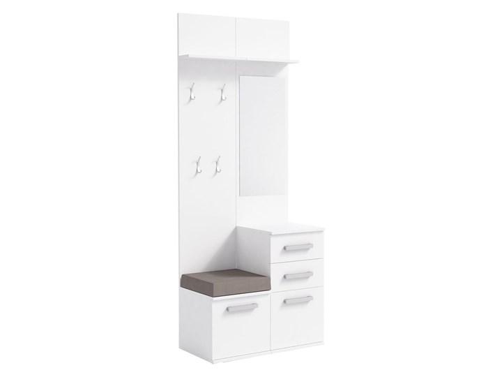 Skandynawska garderoba z szafką na buty Dimmi - biała Kolor Biały