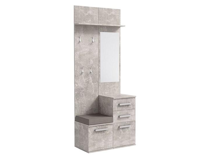 Minimalistyczna garderoba Dimmi - beton