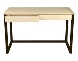 drewniane biurko czarny stelaż inelo x6