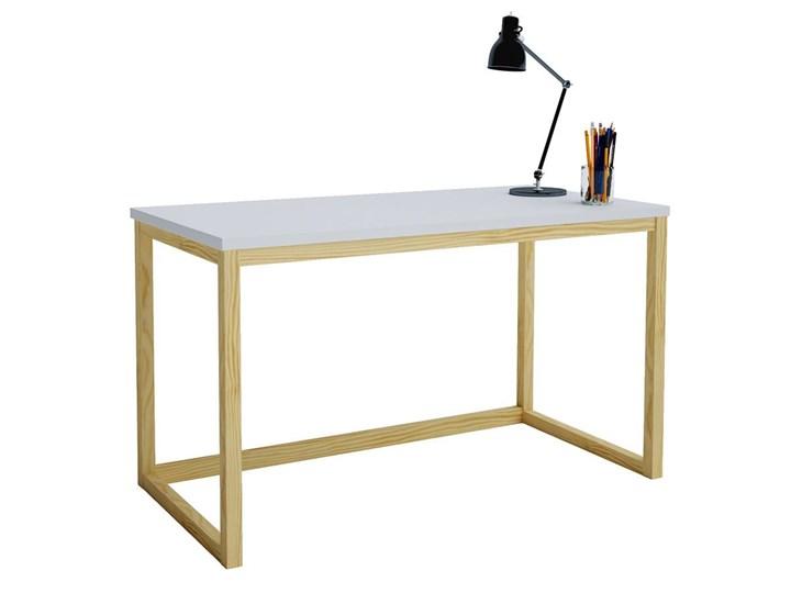 Skandynawskie biurko Inelo T4 - 140x60 cm Drewno Kategoria Biurka Szerokość 138 cm Szerokość 140 cm Biurko konsola Sosna Kolor Beżowy