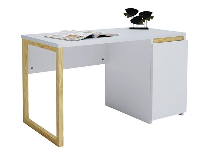 Skandynawskie biurko z szafką Inelo X4 Szerokość 100 cm Drewno Sosna Głębokość 50 cm Kategoria Biurka