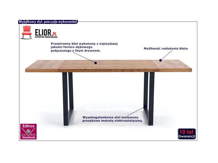 Dębowy stół w stylu loftowym Marco Szerokość 80 cm Drewno Długość 126 cm Wysokość 76 cm Kolor Brązowy