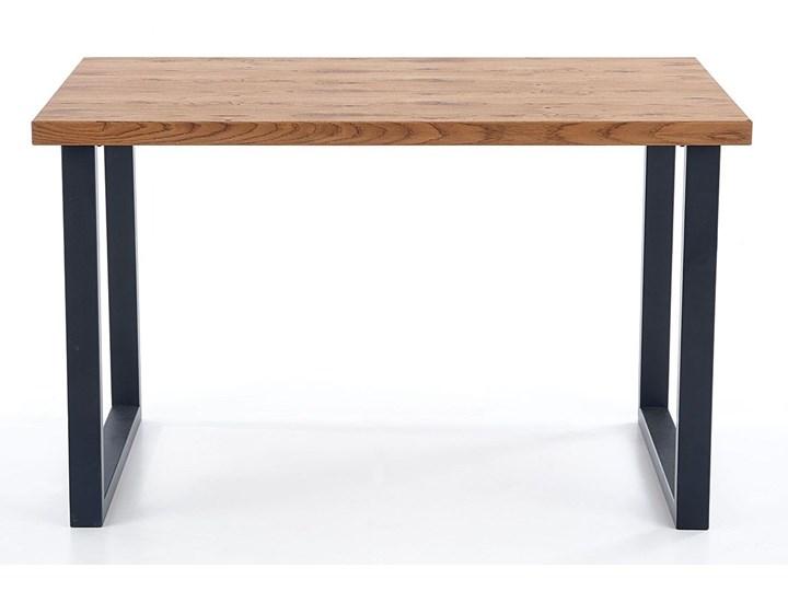 Dębowy stół w stylu loftowym Marco Długość 126 cm Kolor Czarny Wysokość 76 cm Szerokość 80 cm Drewno Kształt blatu Prostokątny