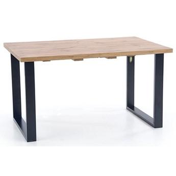 Drewniany rozkładany stół w stylu loft do salonu Lucy 2X
