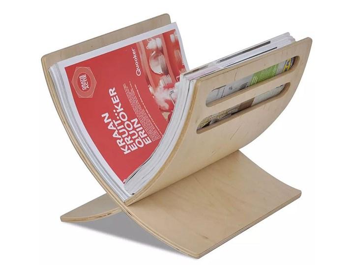 Drewniany stojak na gazety Varis - topola Kolor Czerwony Drewno Kolor Beżowy