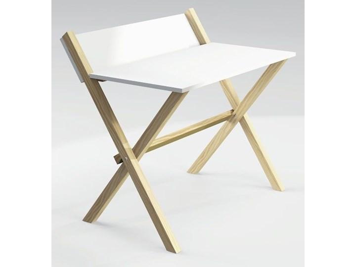 Skandynawskie biurko Inelo Z3 Biurko konsola Drewno Szerokość 100 cm Sosna Styl Nowoczesny