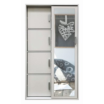 Garderoba z lustrem i szafką na buty Horik - biała
