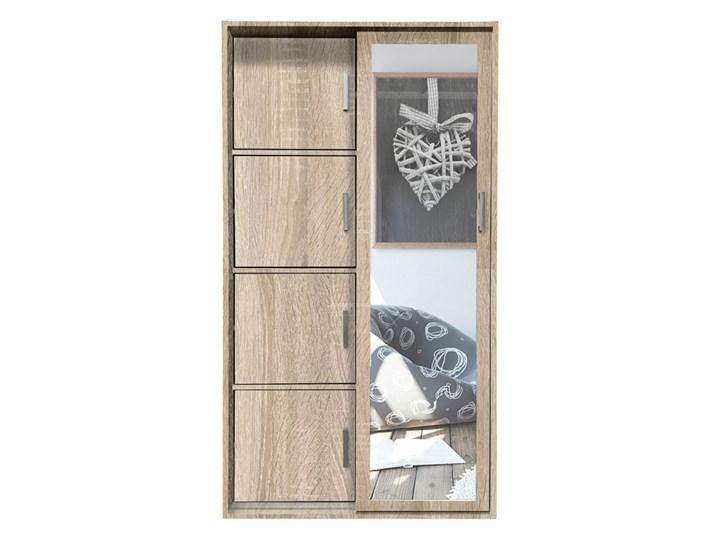 Garderoba z lustrem i szafką na buty Horik - dąb sonoma Drewno Kolor Beżowy