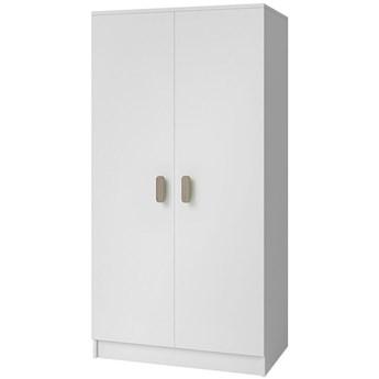 Skandynawska szafa z kolorowymi uchwytami Piccolo 11X - biała