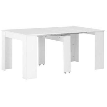 Stół z połyskiem rozkładany Bares - biały