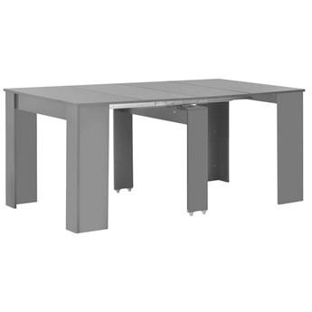 Stół wysoki połysk rozkładany Bares - szary