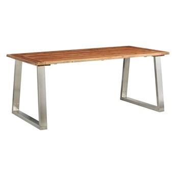 Stół industrialny z akacji Eluwin – brązowy