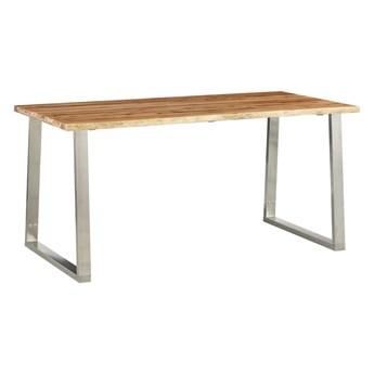 Stół industrialny z akacji Eluwin 2X – brązowy