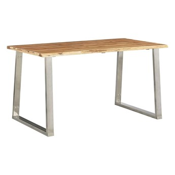 Stół industrialny drewniany Eluwin 3X – brązowy