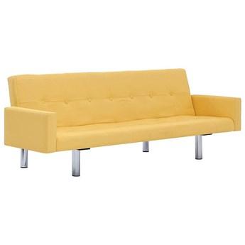 Rozkładana sofa Nesma z podłokietnikami - żółta