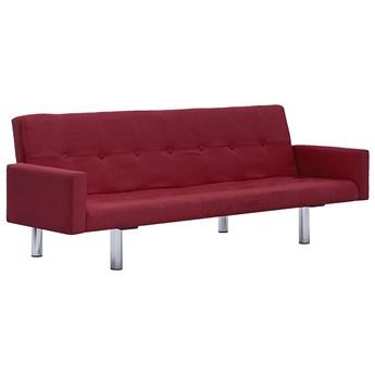 Rozkładana sofa Nesma z podłokietnikami - czerwone wino