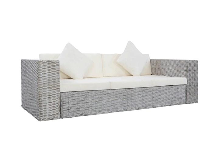 Sofa Alani 3C trzyosobowa - szara Rattan Drewno Kolor Szary Kategoria Sofy ogrodowe