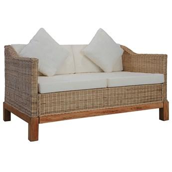 Sofa Alani 2B dwusobowa - naturalny rattan