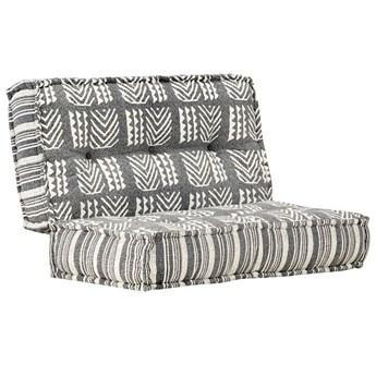 Kwadratowa piankowa sofa Gina - ciemnoszara