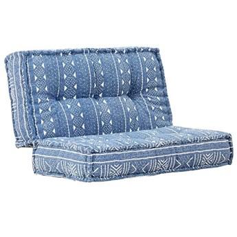 Kwadratowa piankowa sofa Gina - niebieska