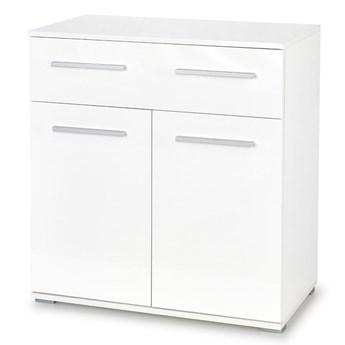 Modernistyczna komoda Lines C6 - biała