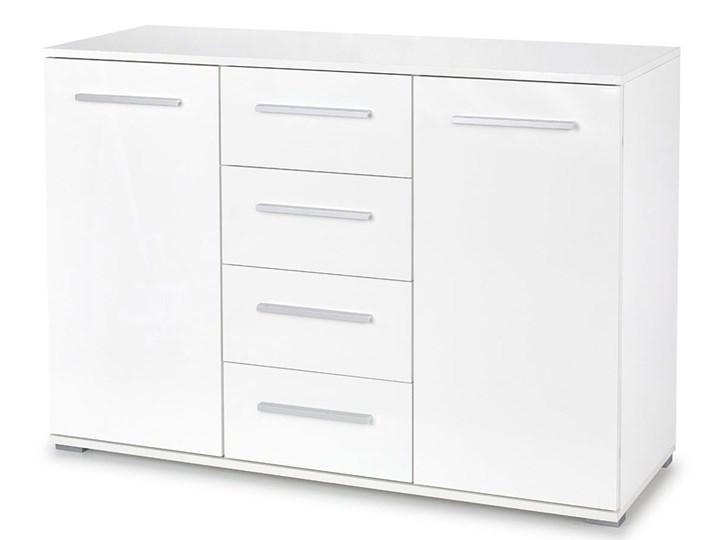 Komoda Lines C3 - biała Wysokość 82 cm Szerokość 116 cm Z szafkami i szufladami Kolor Biały