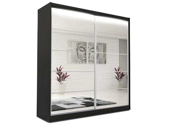 Szafa przesuwna Lunne 4X - czarna Rodzaj drzwi Przesuwne Pomieszczenie Garderoba
