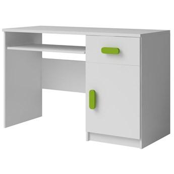Nowoczesne biurko z kolorowymi uchwytami Florentino 5X - białe