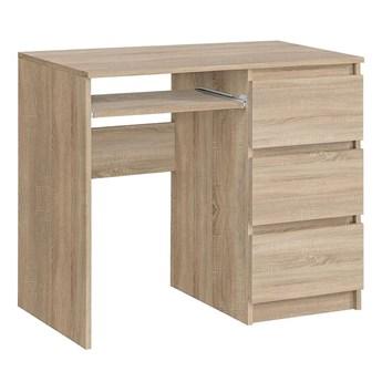Matowe biurko komputerowe Aglo - sonoma