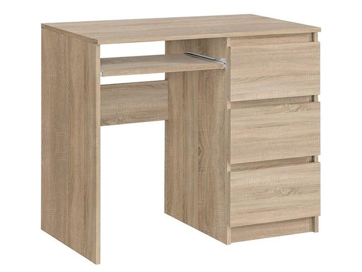 Matowe biurko Aglo - sonoma Styl Nowoczesny Głębokość 50 cm Szerokość 90 cm Kolor Beżowy