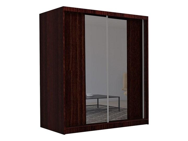 Szafa przesuwna Grace 3X - wenge Drewno Pomieszczenie Garderoba Pomieszczenie Przedpokój