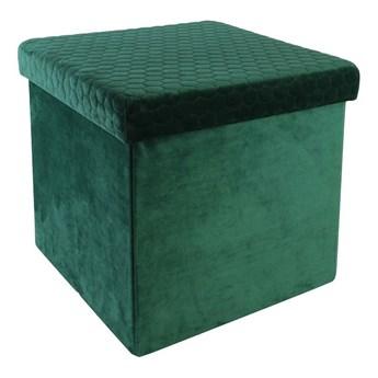 Otwierana pufa z pojemnikiem Zanno - zielona