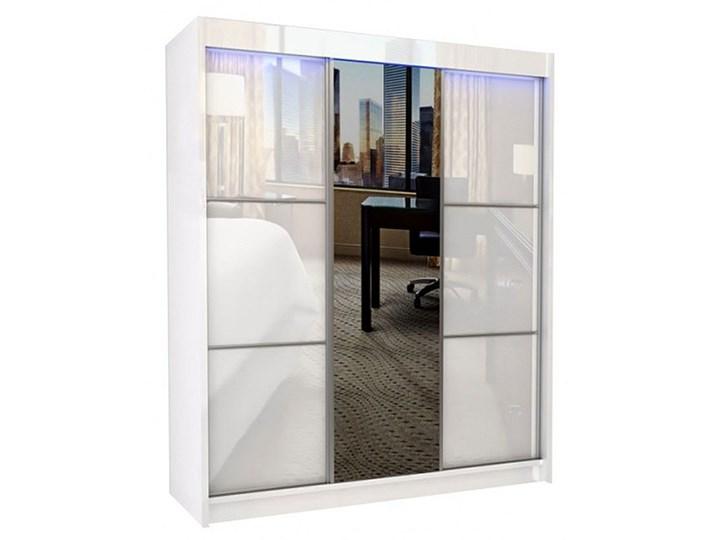 Szafa przesuwna Greta 3X - biała lacobel lustro Drewno Pomieszczenie Przedpokój Typ Gotowa
