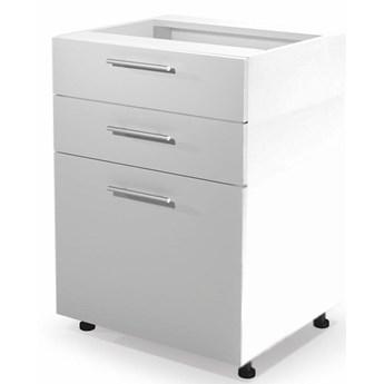 Kuchenna szafka dolna z szufladami Limo 9X - biały połysk