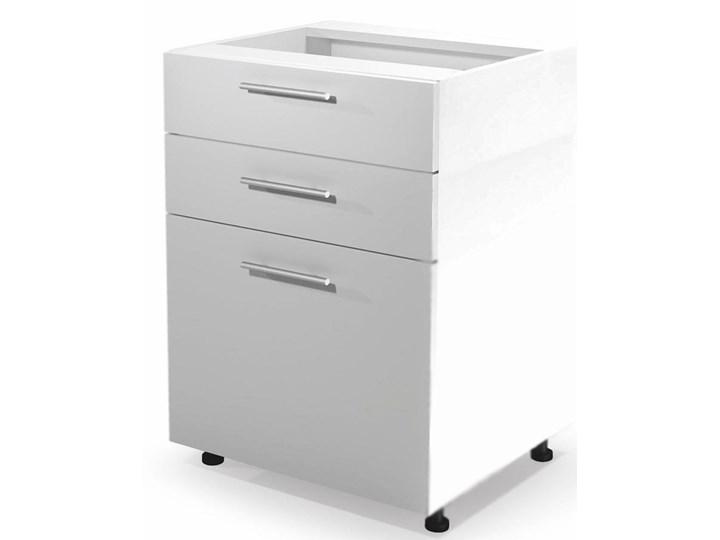 Kuchenna szafka dolna z szufladami Limo 9X - biały połysk Płyta MDF Kategoria Szafki kuchenne
