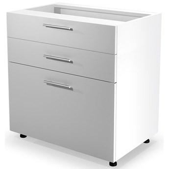Kuchenna szafka dolna z szufladami Limo 11X - biały połysk