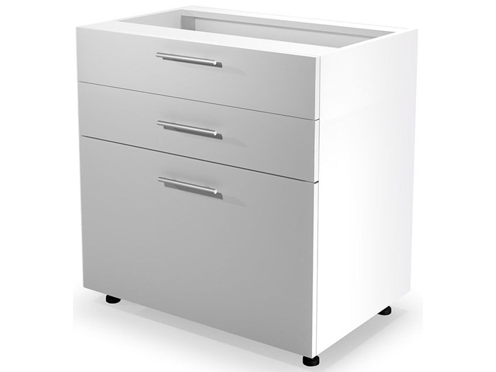 Kuchenna szafka dolna z szufladami Limo 11X - biały połysk Płyta MDF Kategoria Szafki kuchenne