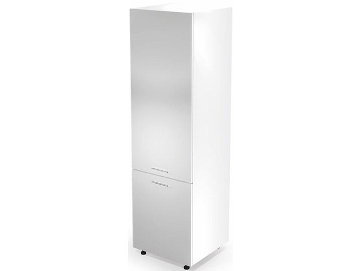 Kuchenna szafka do zabudowy lodówki Limo 14X - biały połysk