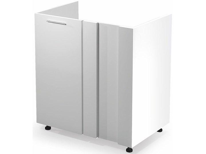 Kuchenna narożna szafka zlewozmywakowa Limo 16X - biały połysk