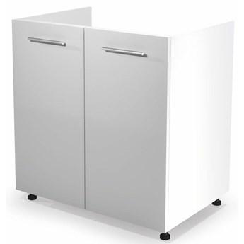 Kuchenna szafka zlewozmywakowa Limo 26X - biały połysk